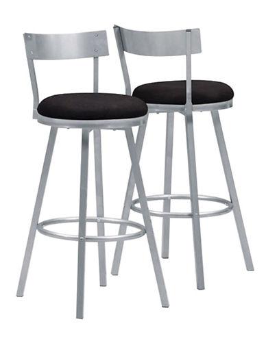 Monarch Swivel Stool Silver Barstool Set-SILVER-One Size