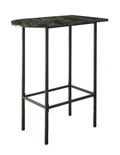Monarch Grey Marble Small Dining Table-CHARCOAL-One Size