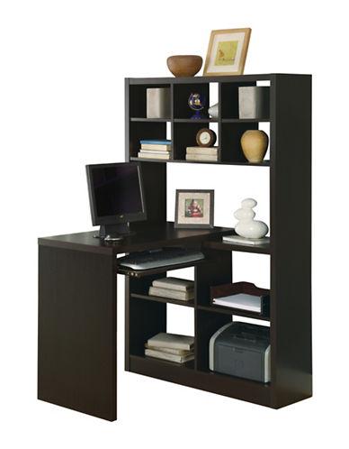 Monarch Adjustable Cubby Corner Desk-BROWN-One Size