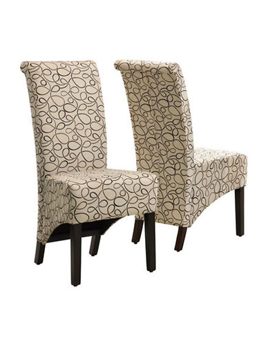 Monarch Set of Two Swirl Dining Chairs-TAUPE-One Size