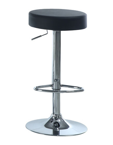 Monarch Black Backless Sphere Barstool Set-BLACK-One Size