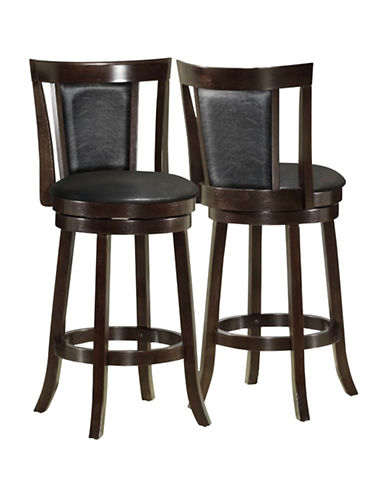 Monarch Two-Piece Padded-Back Bar-Height Stools-BLACK-One Size