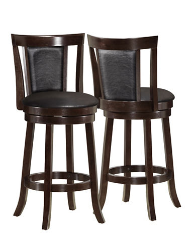 Monarch Two-Piece Padded-Back Counter-Height Stools-BLACK-One Size