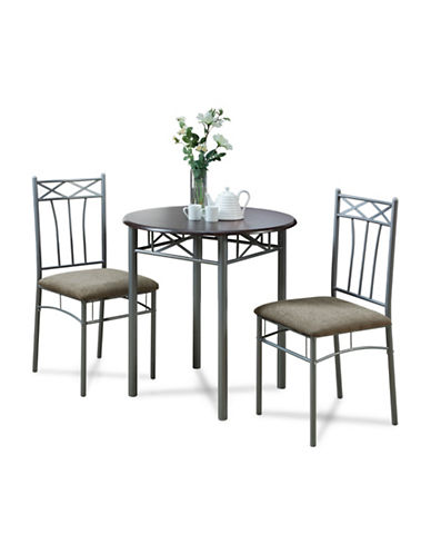 Monarch Three-Piece Bistro Set-BROWN-One Size