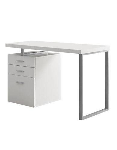 Monarch Versatile Configuration Computer Desk-WHITE-One Size