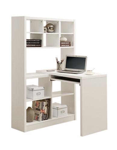 Monarch Corner Computer Desk-WHITE-One Size