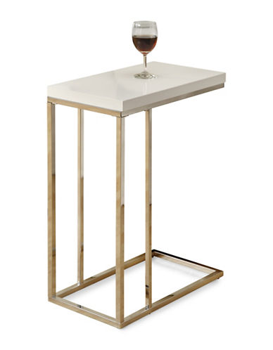 Monarch Rectangular Accent Table-WHITE-One Size