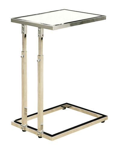 Monarch Rectangular Accent Table-CHROME METAL-One Size
