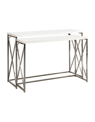 Monarch Two-Piece Console Table Set-WHITE-One Size