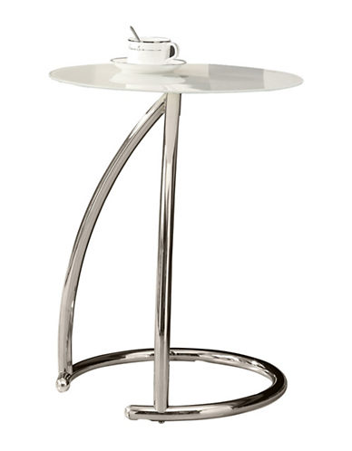 Monarch Glass Top Accent Table-SILVER-One Size