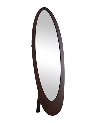 Monarch Contemporary Oval Frame Mirror-BROWN-One Size
