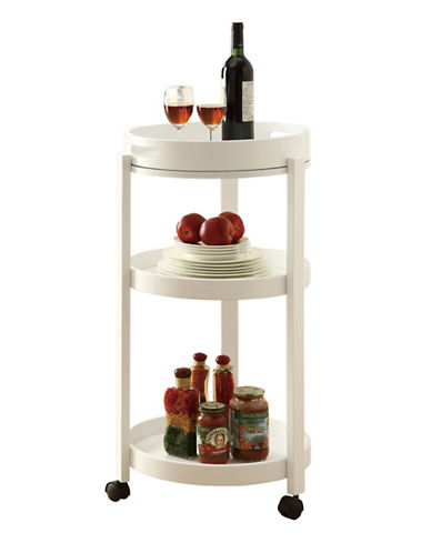 Monarch Serving Tray Castors Home Bar Cart-WHITE-One Size