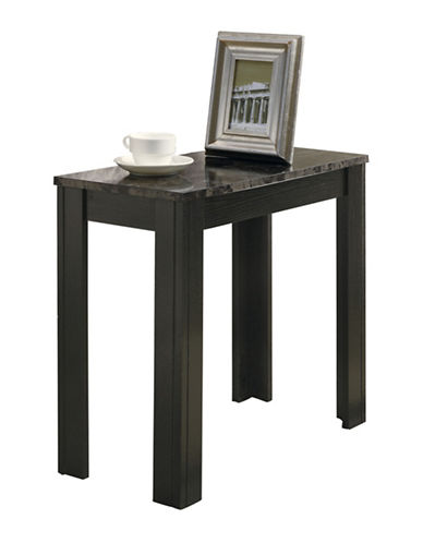 Monarch Marble-Look Accent Table-BLACK-One Size