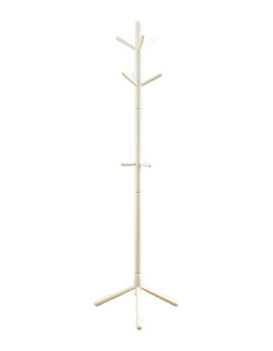 Monarch 69-Inch Wood Coat Rack-WHITE-One Size