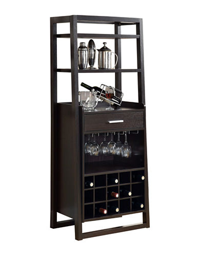 Monarch 60-Inch Ladder Style Home Bar-CAPPUCCINO-One Size