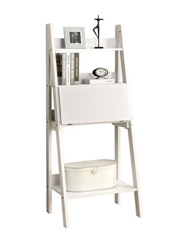 Monarch Ladder-Style Computer Desk-WHITE-One Size