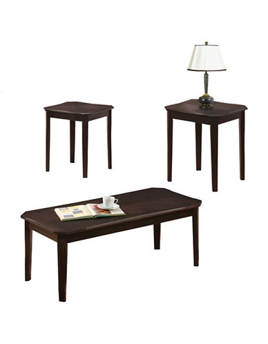 Monarch Cappuccino Cherry Veneer Three-Piece Table Set-CAPPUCCINO-One Size
