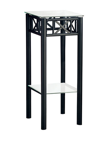 Monarch Shelf Accent Table-BLACK-One Size