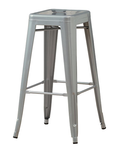 Monarch Set of Two Coated Steel Barstools-SILVER-One Size