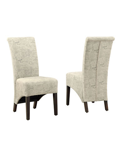 Monarch Set of Two Vintage Dining Chairs-MULTICOLOURED-One Size