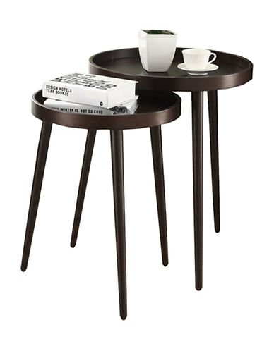 Monarch Two-Piece Nesting Table Set-BROWN-One Size