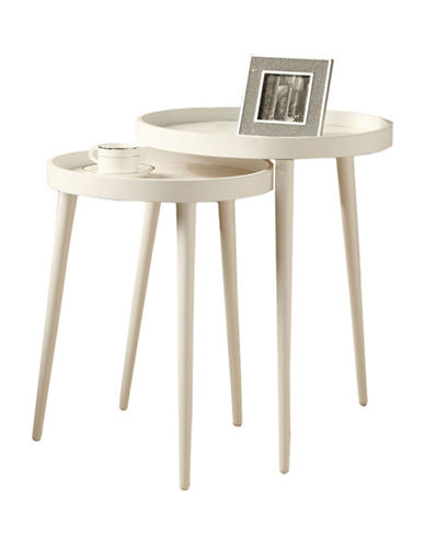 Monarch Two-Piece Nesting Table Set-WHITE-One Size