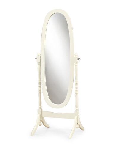 Monarch Cheval Wooden Floor Mirror-WHITE-One Size