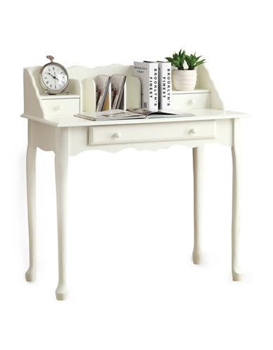 Monarch Wooden Secretary Desk-WHITE-One Size