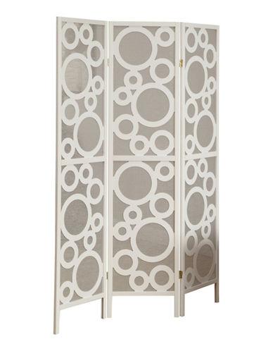 Monarch Three-Panel Bubble Folding Screen-WHITE-One Size