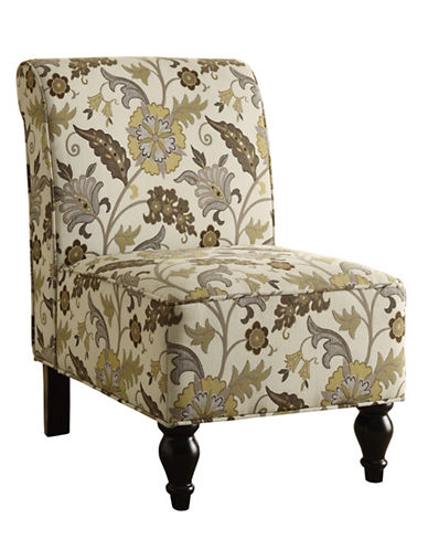 Monarch Garden Floral Accent Chair-BROWN-One Size