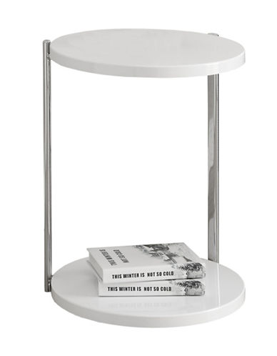Monarch Round Accent Table-WHITE-One Size