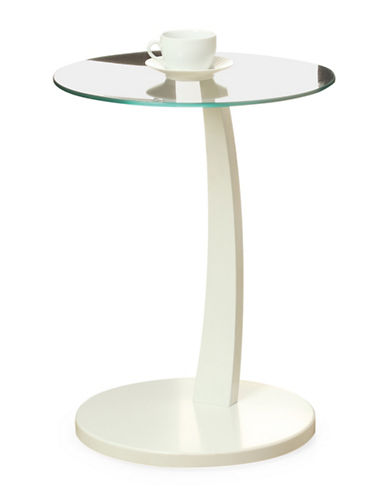 Monarch Bentwood Accent Table-WHITE-One Size