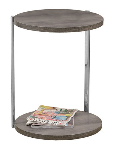 Monarch Vintage-Look Accent Table-TAUPE-One Size