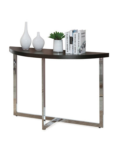 Monarch High Gloss Console Table-BROWN-One Size