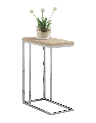 Monarch Chrome-Look Accent and Snack Table-NATURAL-One Size