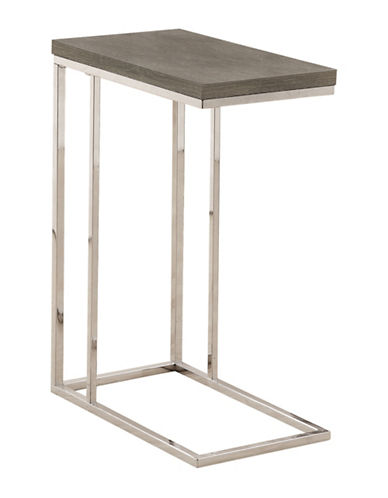 Monarch Chrome-Look Accent and Snack Table-DARK TAUPE-One Size