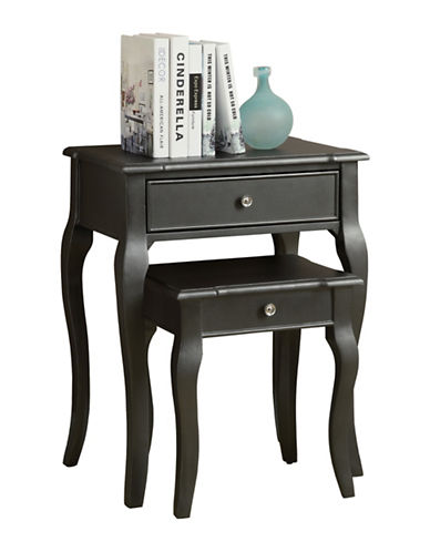 Monarch Curved-Leg Nesting Tables with Drawer 88225116