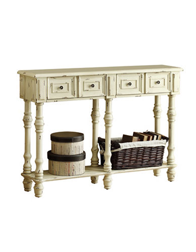 Monarch Antique-Finish Console Table-WHITE-One Size