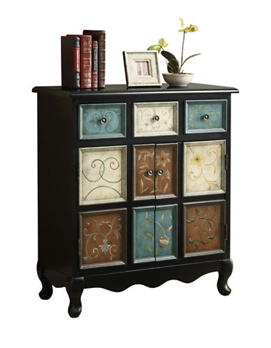 Monarch Apothecary-Style Accent Chest-BLACK-One Size