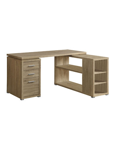 Monarch L-Shaped Desk with Storage-NATURAL-One Size