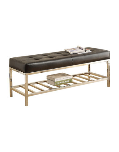 Monarch Chrome Shelf Bench-BLACK-One Size 88225166_BLACK_One Size