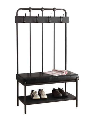Monarch Industrial Hook Hall Entry Bench-CHARCOAL-One Size