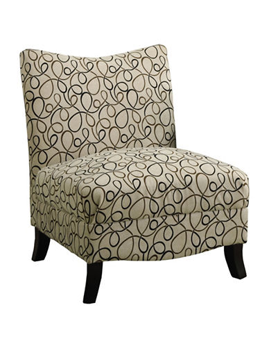 Monarch Swirl Print Accent Chair-TAN-One Size