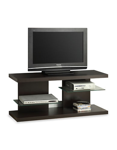 Monarch Glass Shelf TV Stand-BROWN-One Size