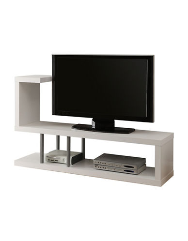 Monarch Open Concept TV Stand-WHITE-One Size