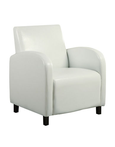 Monarch Leather-Look Accent Chair-WHITE-One Size