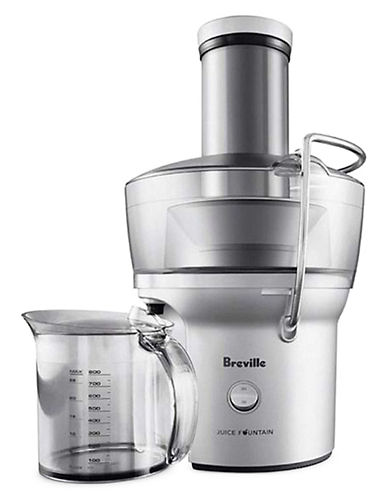 Breville Juice Fountain Compact Juicer-SILVER-One Size