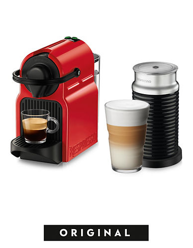 Nespresso Inissia Coffee Machine by Breville with Aeroccino-RED-One Size