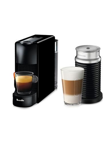 Nespresso Essenza Mini Machine with Aeroccino-BLACK-One Size