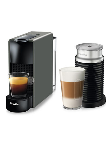 Nespresso Essenza Mini Machine with Aeroccino-GREY-One Size